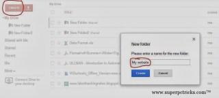 Creating a folder in google drive
