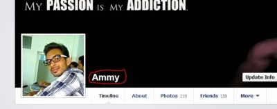 Facebook profile without the surname