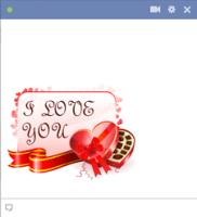 I love you facebook emoticon