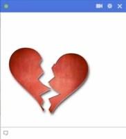 broken heart facebook emoticon