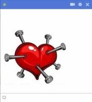 heart with pins facebook emoticon
