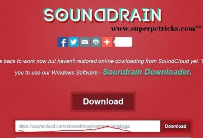 save song from soundcloud with sounddrain
