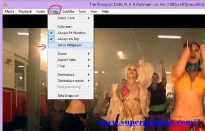 Set video as wallpaper in windows 8
