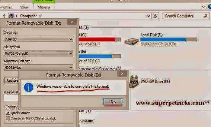 How to Repair a Corrupted SD card / USB Hard drive -Tips,tricks and