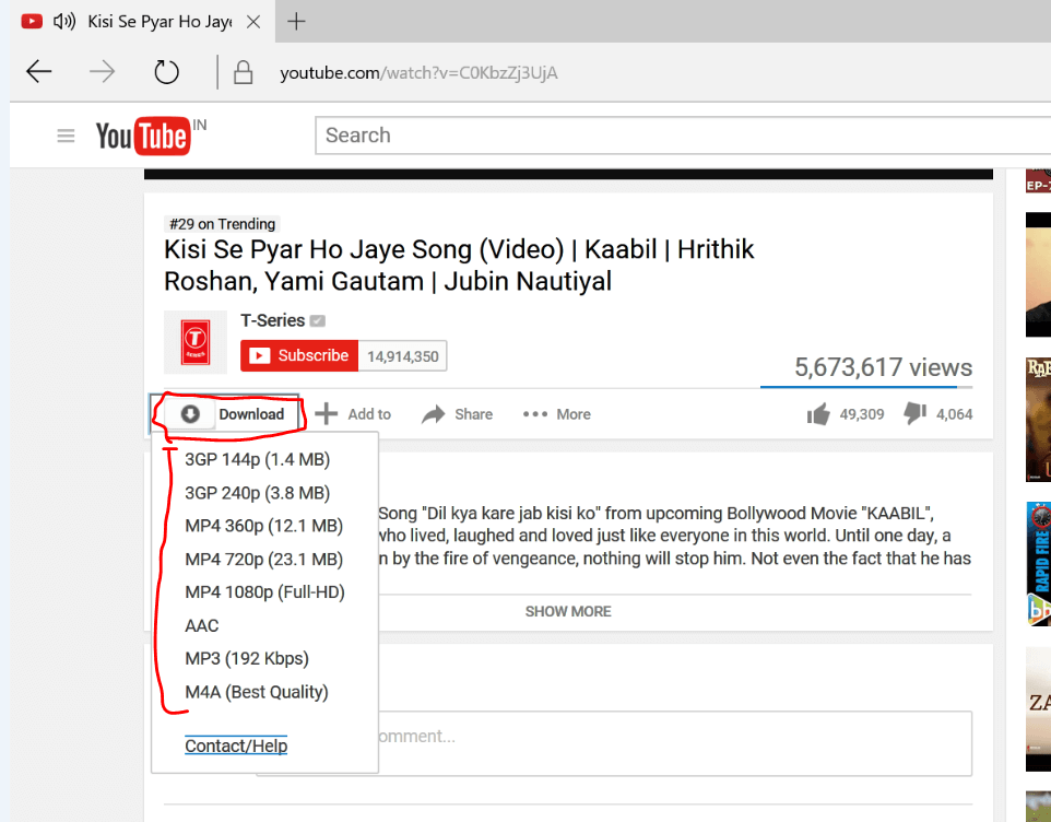 Download YouTube videos in Edge browser with this extension -Tips.tricks and Hackery