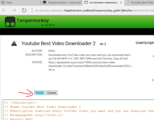 download youtube videos extension