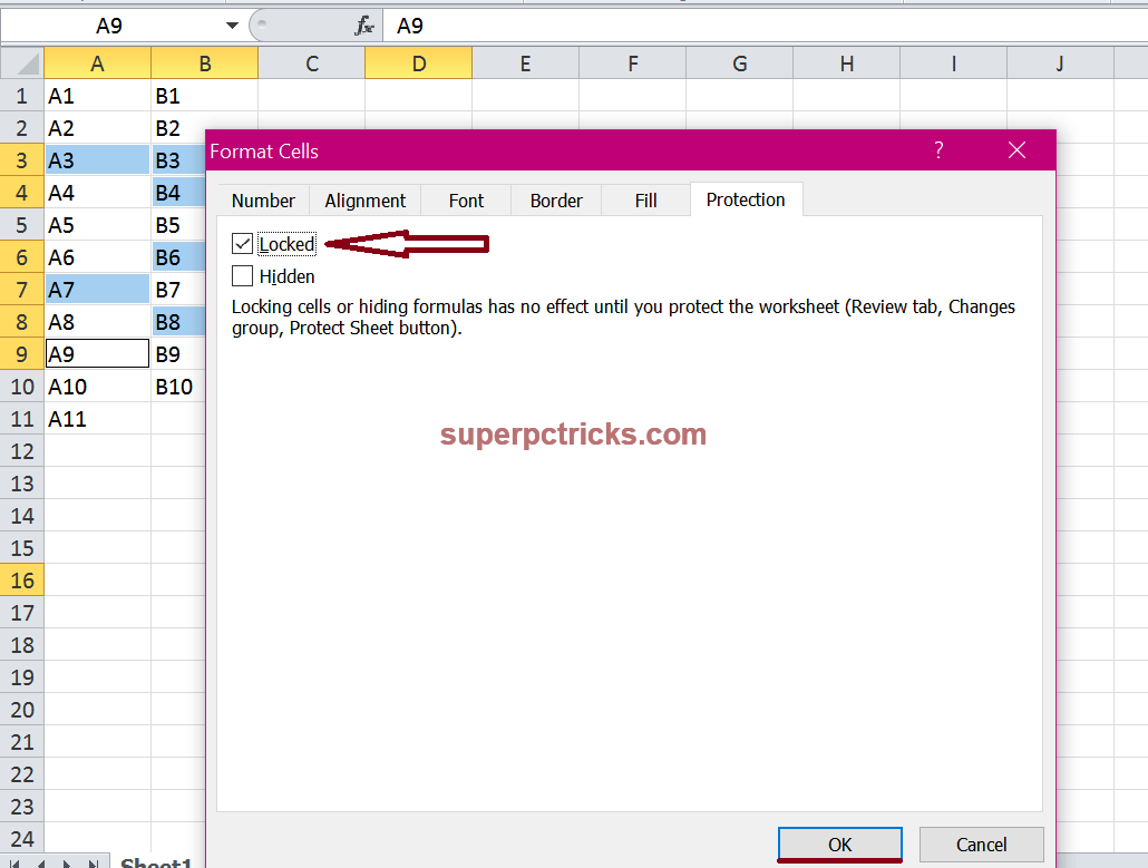 How To Protect Individual Cells And Cell Areas In Excel