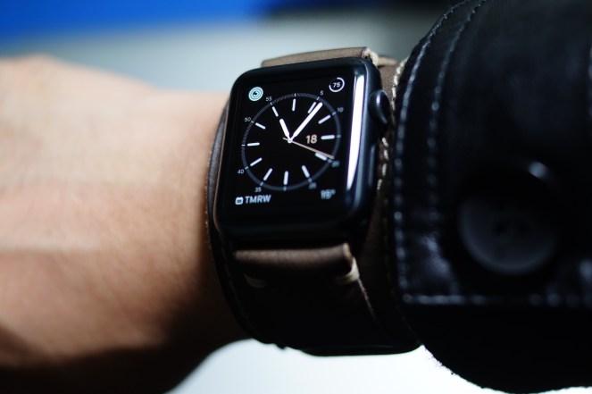 BuonGustoItaliano Handmade Leather Cuff Apple Watch Band 00