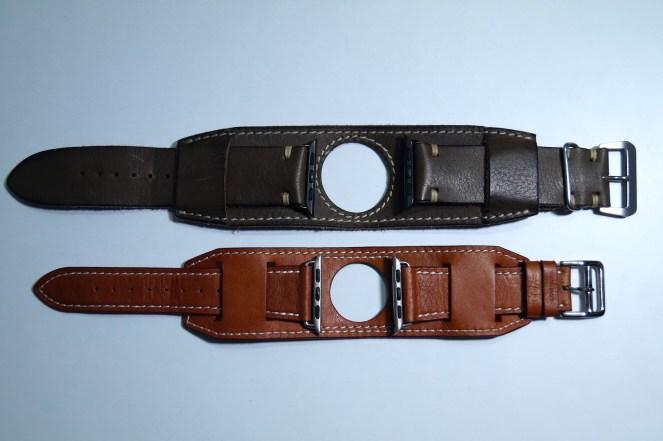 BuonGustoItaliano Handmade Leather Cuff Apple Watch Band 13