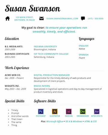 Free Microsoft Word Resume Templates Business Form Personal