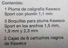 Kaweco Kalligrafie, plumines punto
