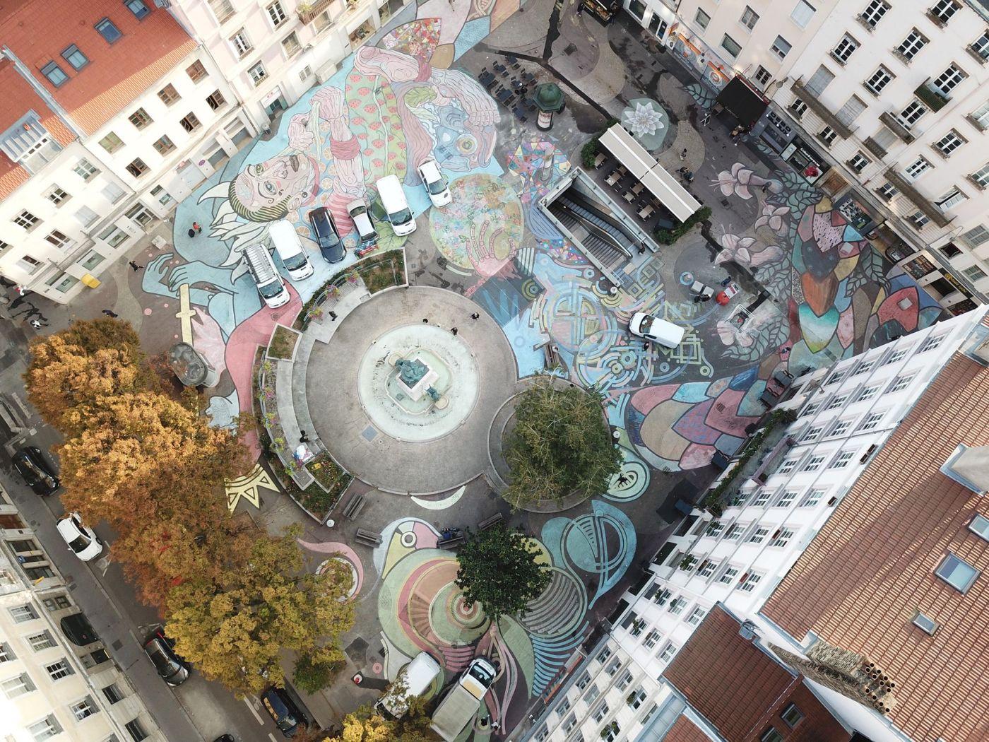 La Fresque rue Victor Hugo en images