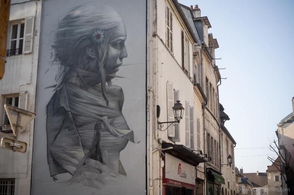 Fresque représentant Marianne