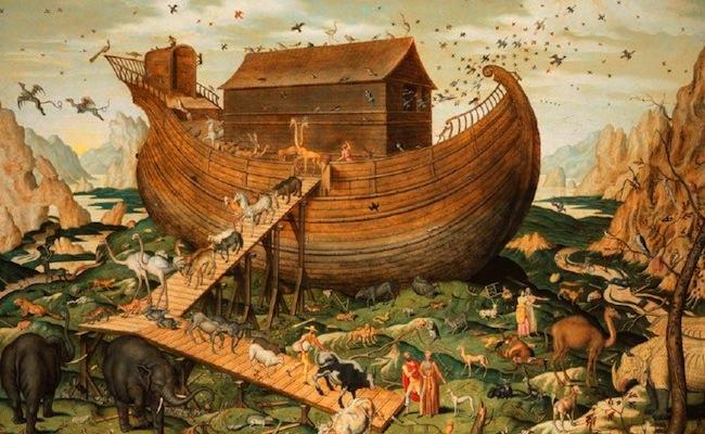 Peinture de L'arche de Noé sur le Mont Ararat