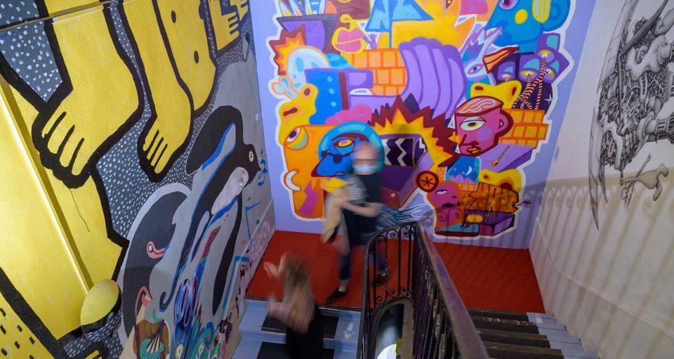 Fresque street-art à Lyon