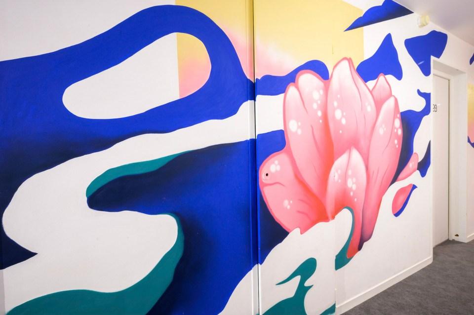 Hotel L'outa et street art par Bambi Bakbi