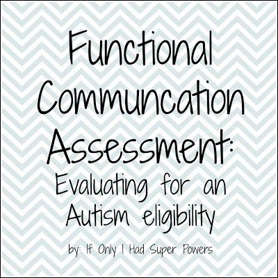 Functional Communication Assessment — Super Power Speech