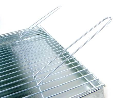 Ruszt do grilla gruby drut 4 mm, ruchome rączki z popielnikiem/paleniskiem