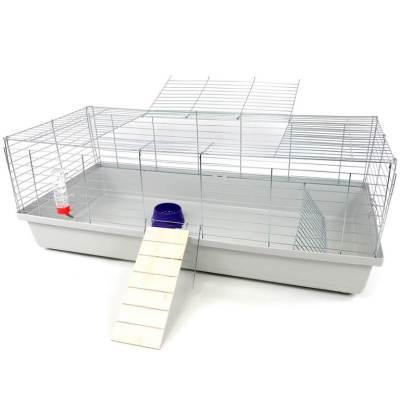 Klatka dla królika lub świnki morskiej 120cm zpodestem