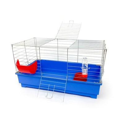 Klatka dla królika 80 cm błękitna