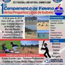 Primer Campamento de Verano de las Pequeñas Ligas de Isabela