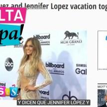 Jennifer López y Alex Rodriguez fueron sorprendidos en Bahamas