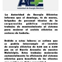 Trabajos AEE en Arenales 12 de marzo de 2017
