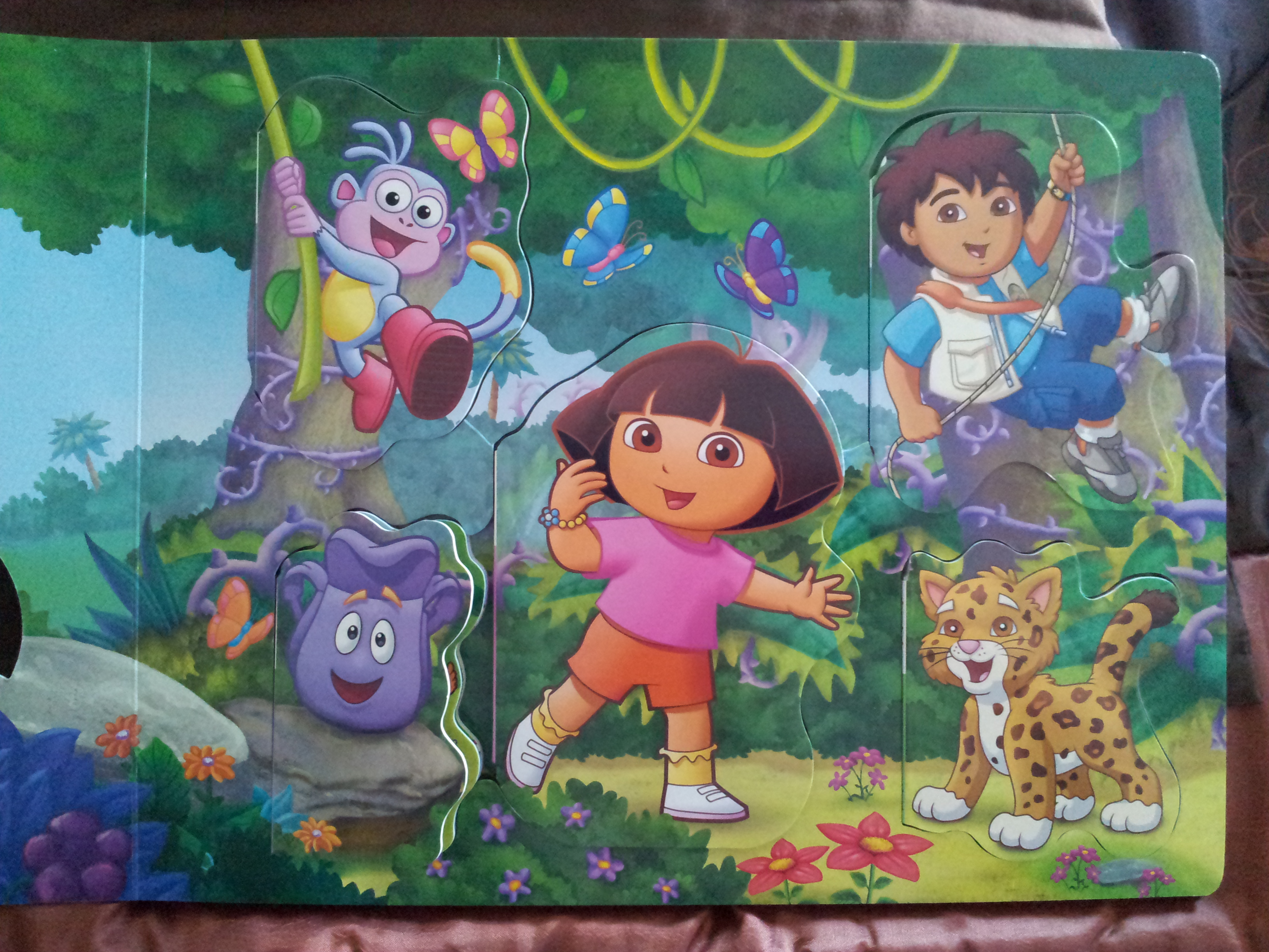 Adventures With Dora Andgo Puzzle Activity Board