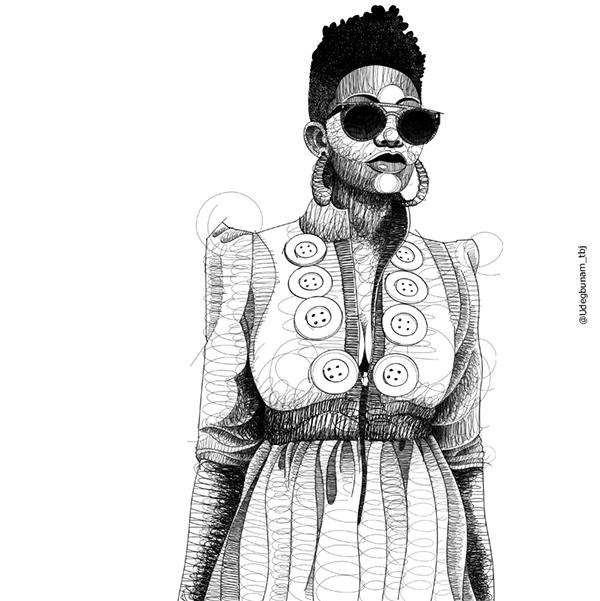 Art. Ankara-inspired Illustrations by Udegbunam TBJ