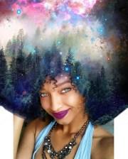 artist paints universe