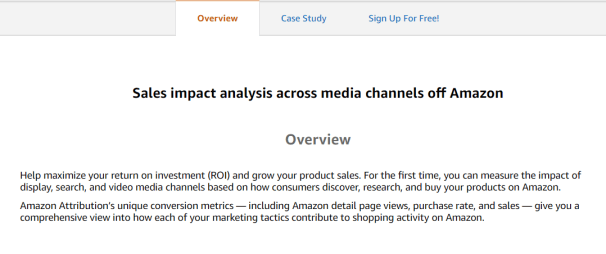 Sales impact analysis across media channels off Amazon