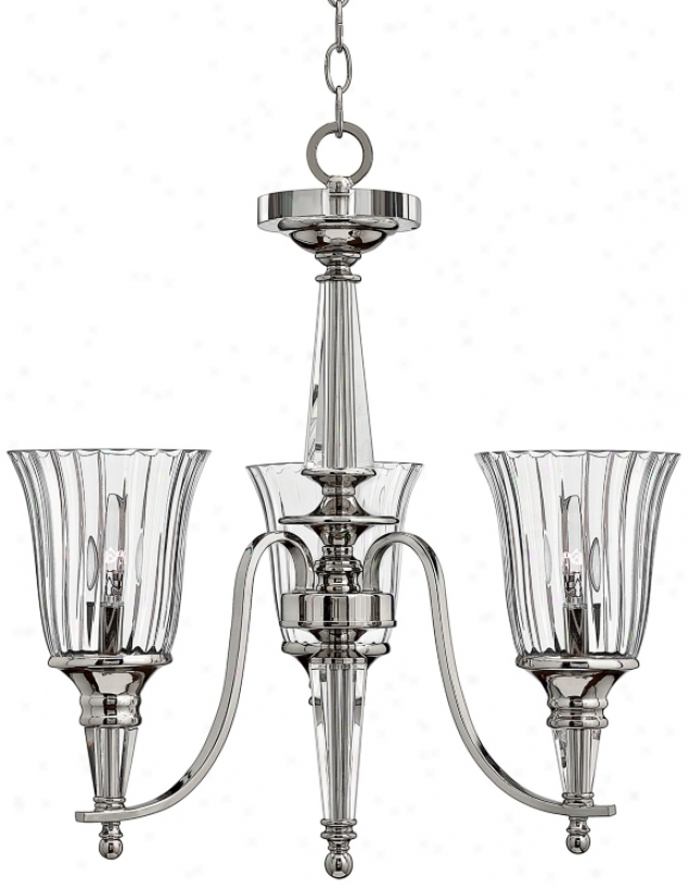 Chandon Collection Sterling Finish Three Light Chandelier