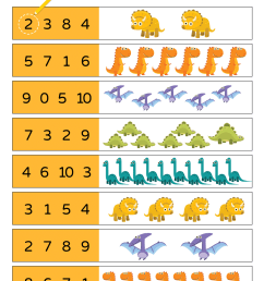 10 Little Dinosaurs Worksheet - Count \u0026 Circle - Super Simple [ 1280 x 905 Pixel ]