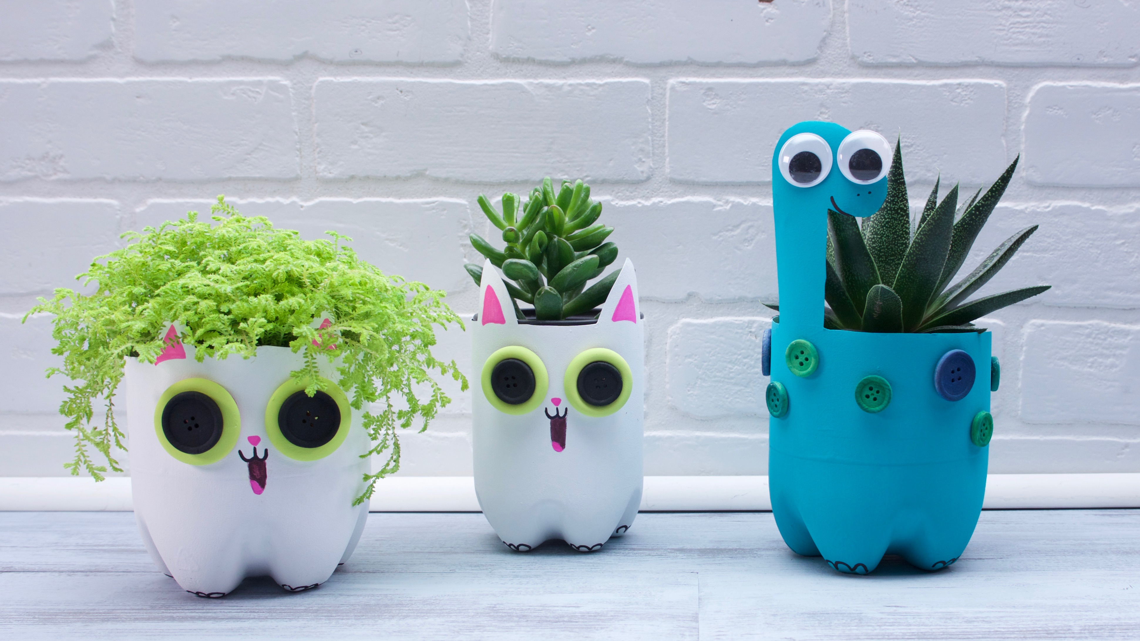 Super Simple Recycled Plastic Bottle Planters
