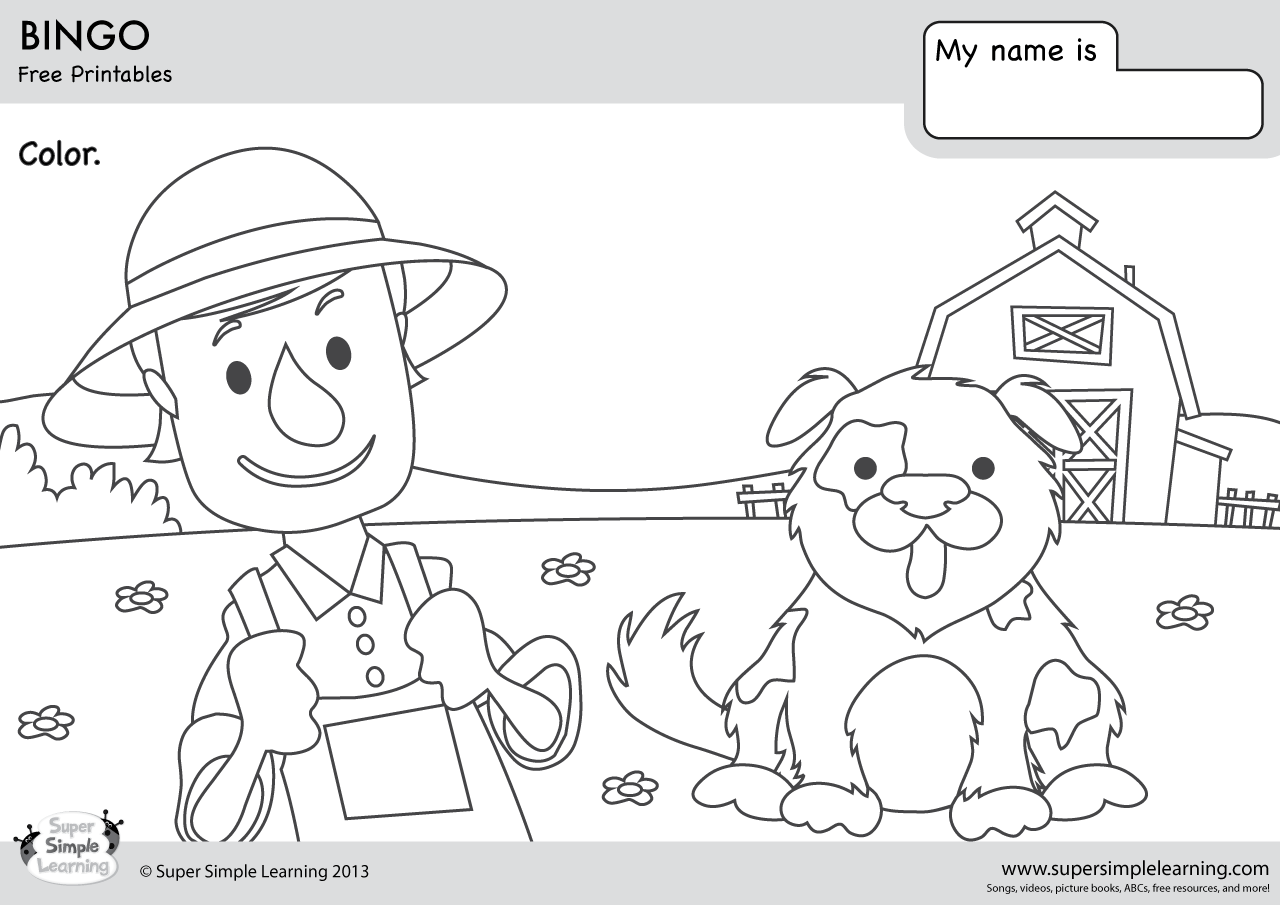 Bingo Coloring Pages