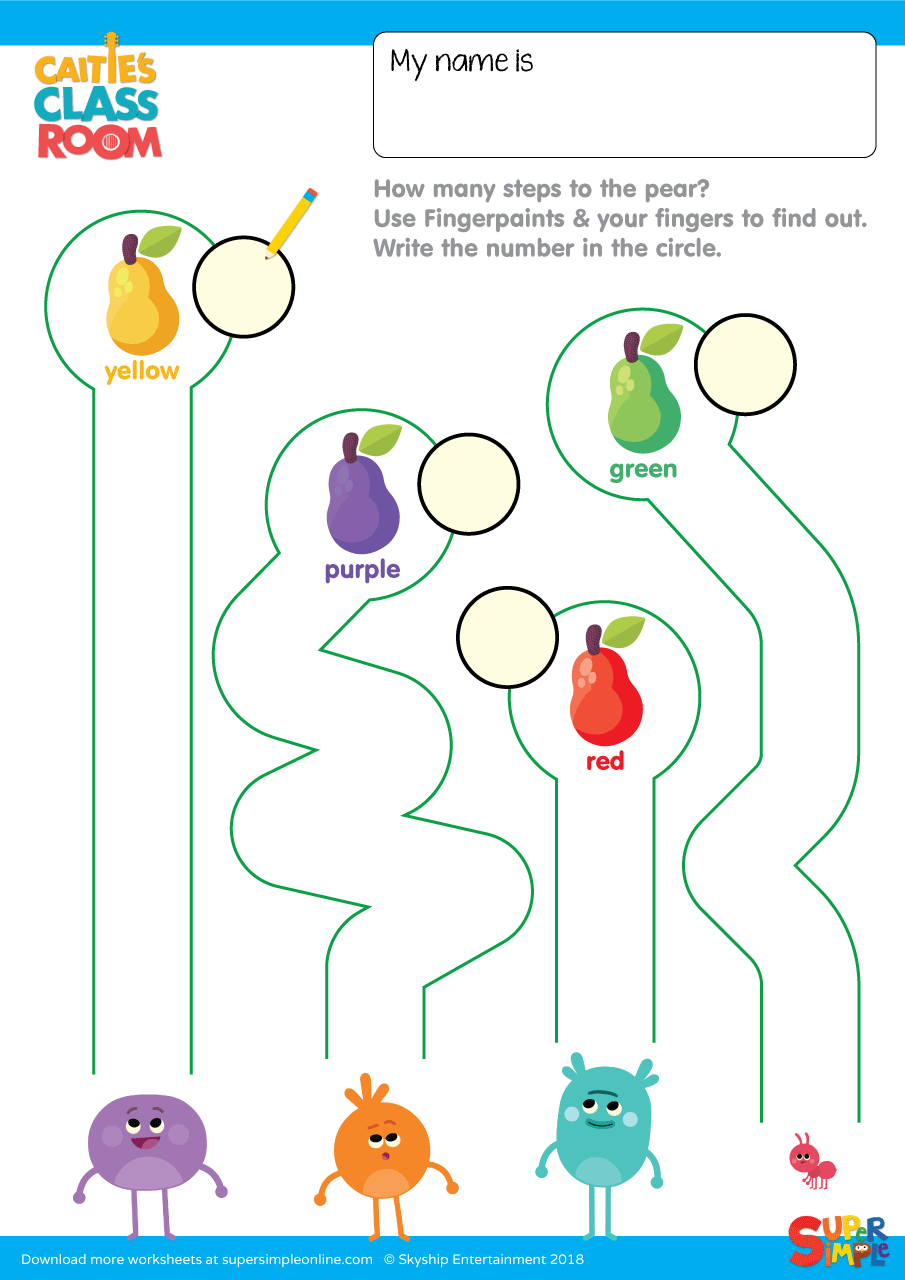 hight resolution of The Bumble Nums - Fingerpaint Counting - Super Simple