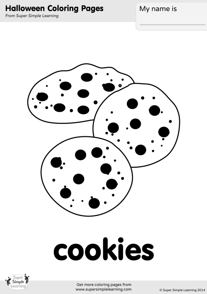 Cookies Coloring Page Super Simple