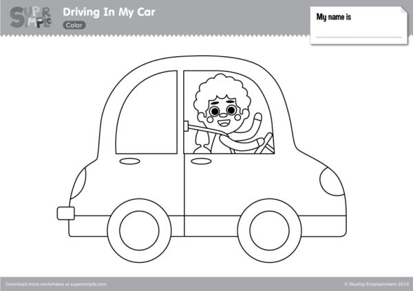 coloring page car # 14