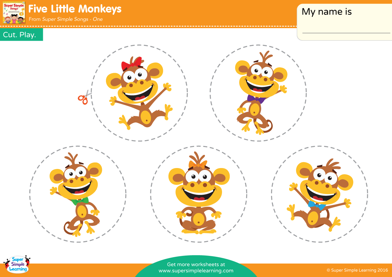 Five Little Monkeys Play Set