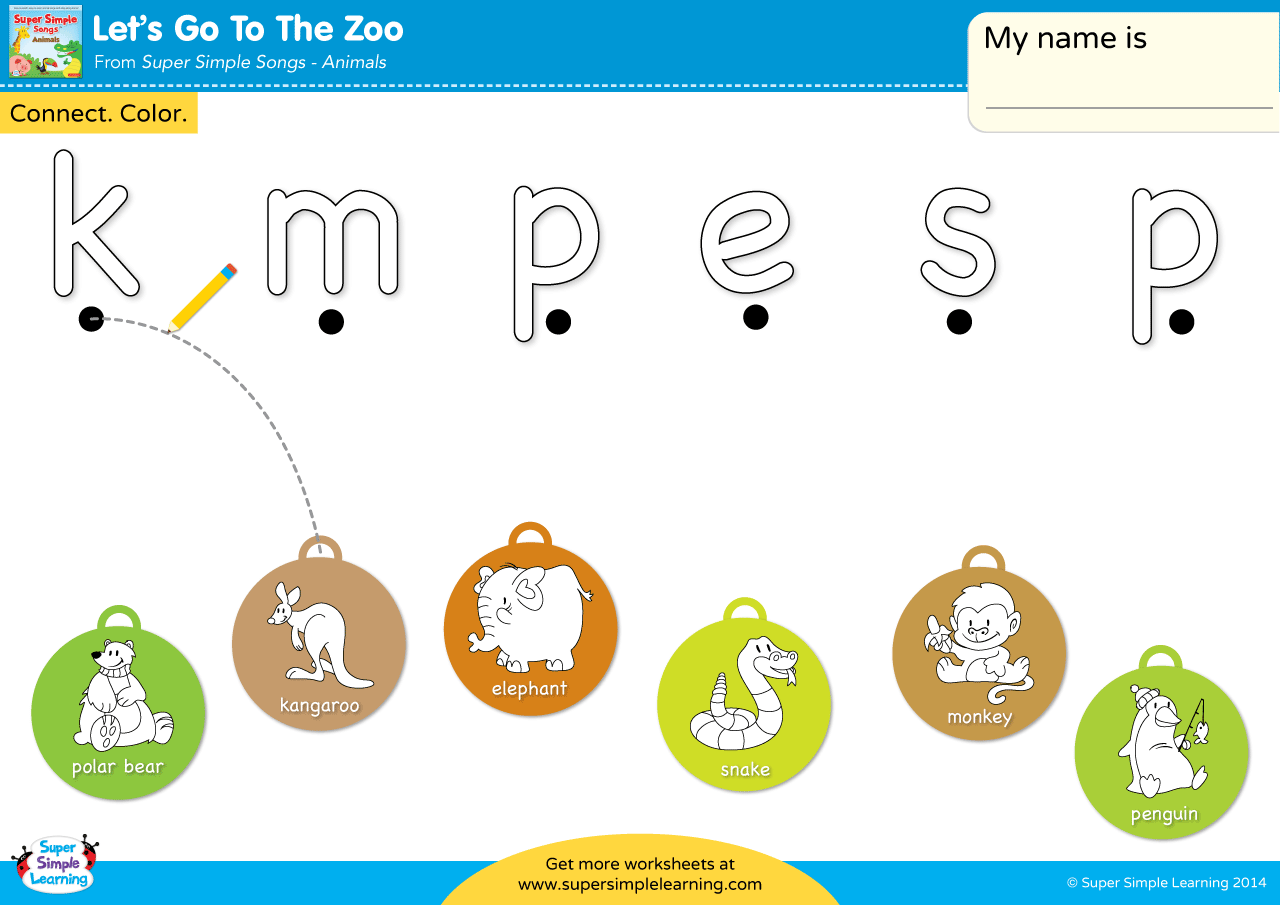 Let S Go To The Zoo Worksheet