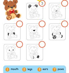My Teddy Bear Worksheet - Write The Number - Super Simple [ 1280 x 905 Pixel ]