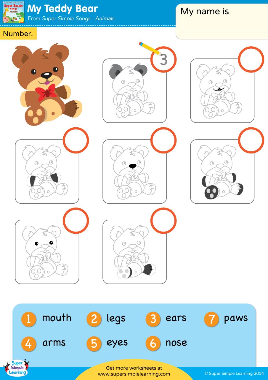 medium resolution of My Teddy Bear Worksheet - Write The Number - Super Simple