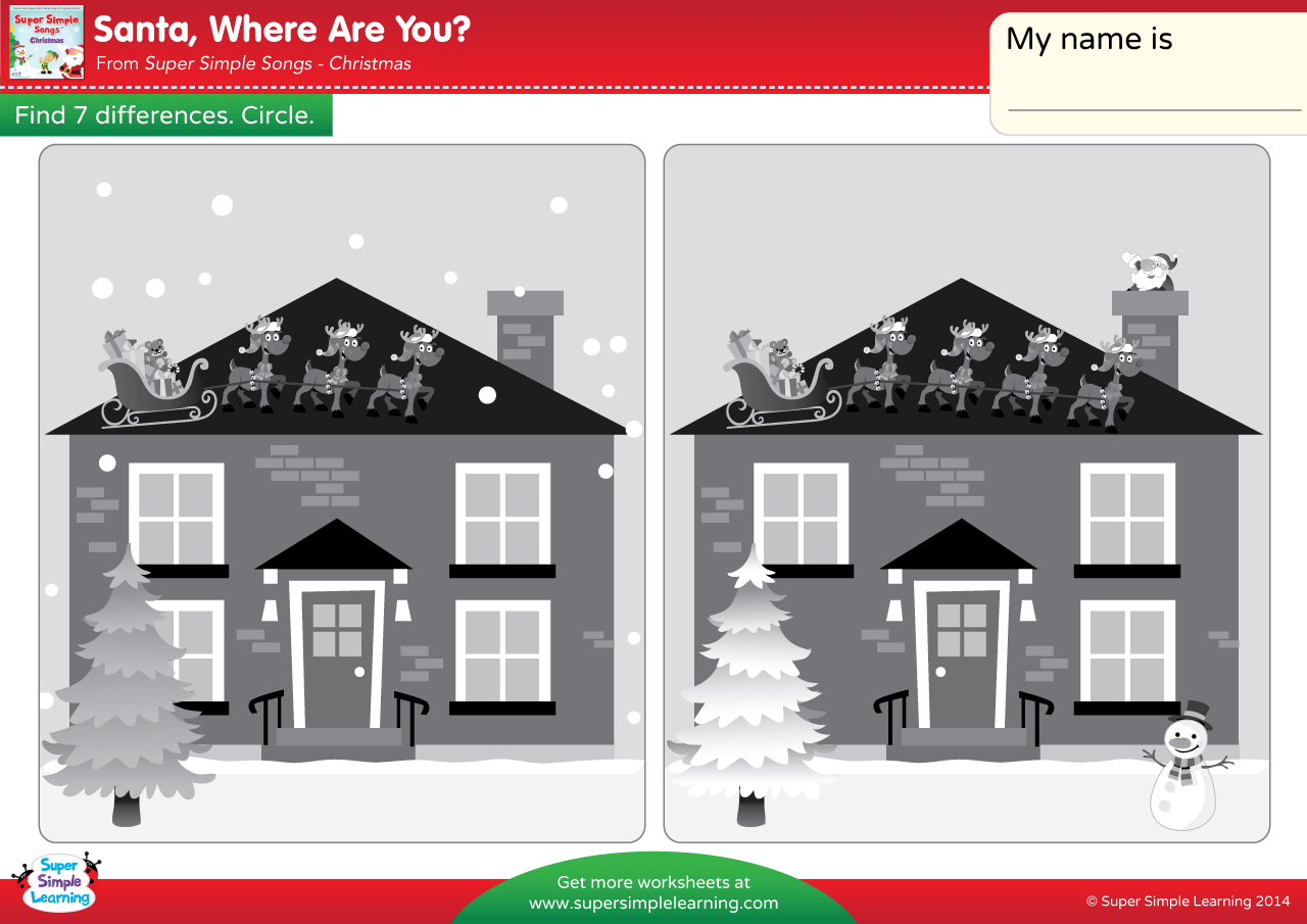 Santa Where Are You Worksheet