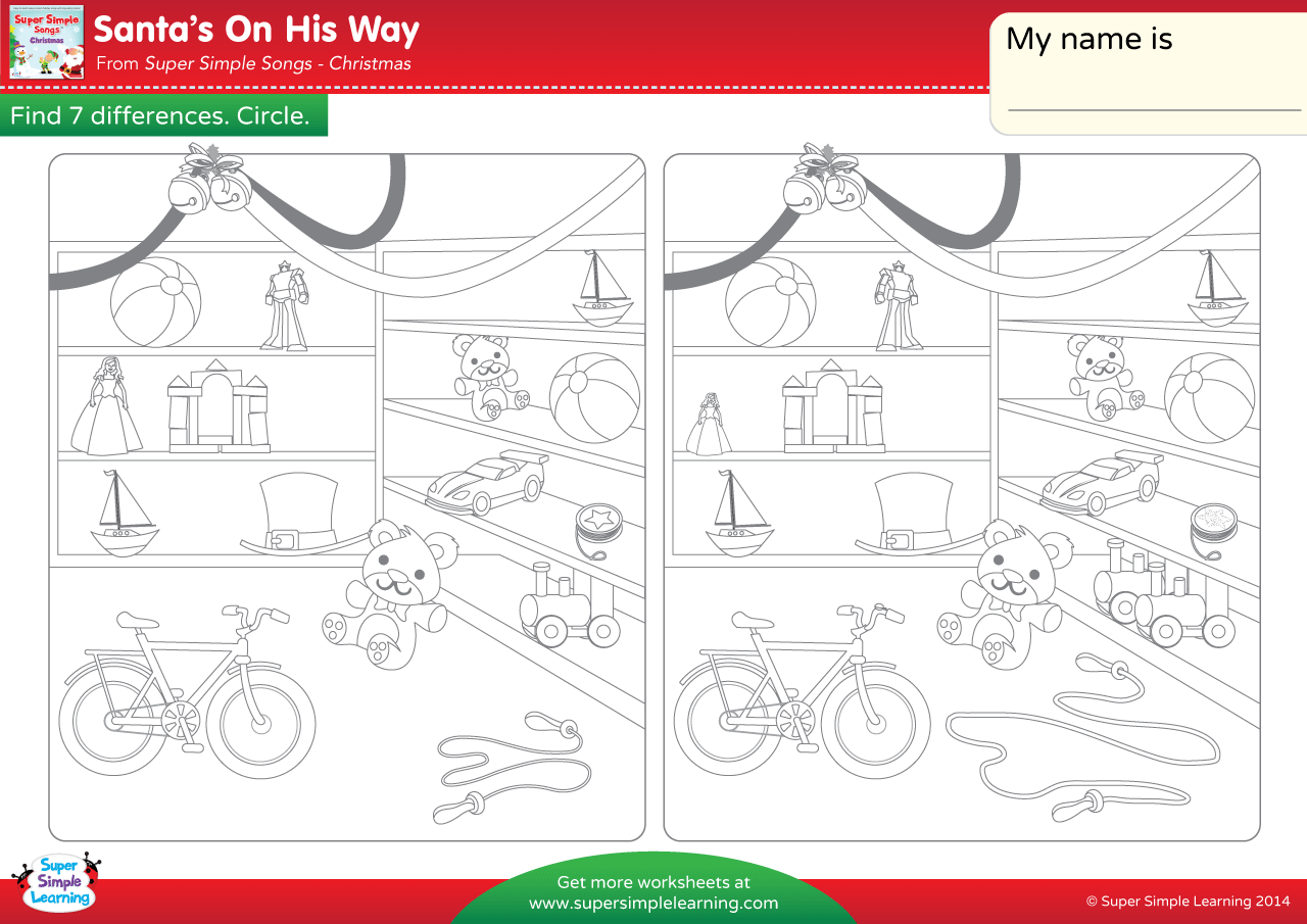 Santa S On His Way Worksheet