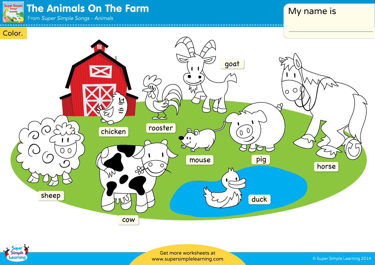 The Animals On The Farm Worksheet
