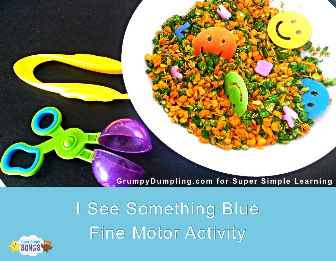 I See Something Blue Fine Motor Activity