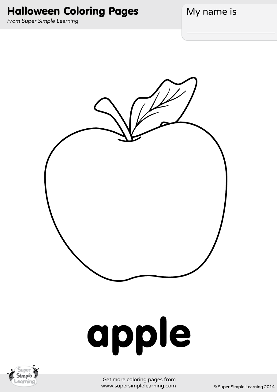 Apple Interactive Coloring Pages
