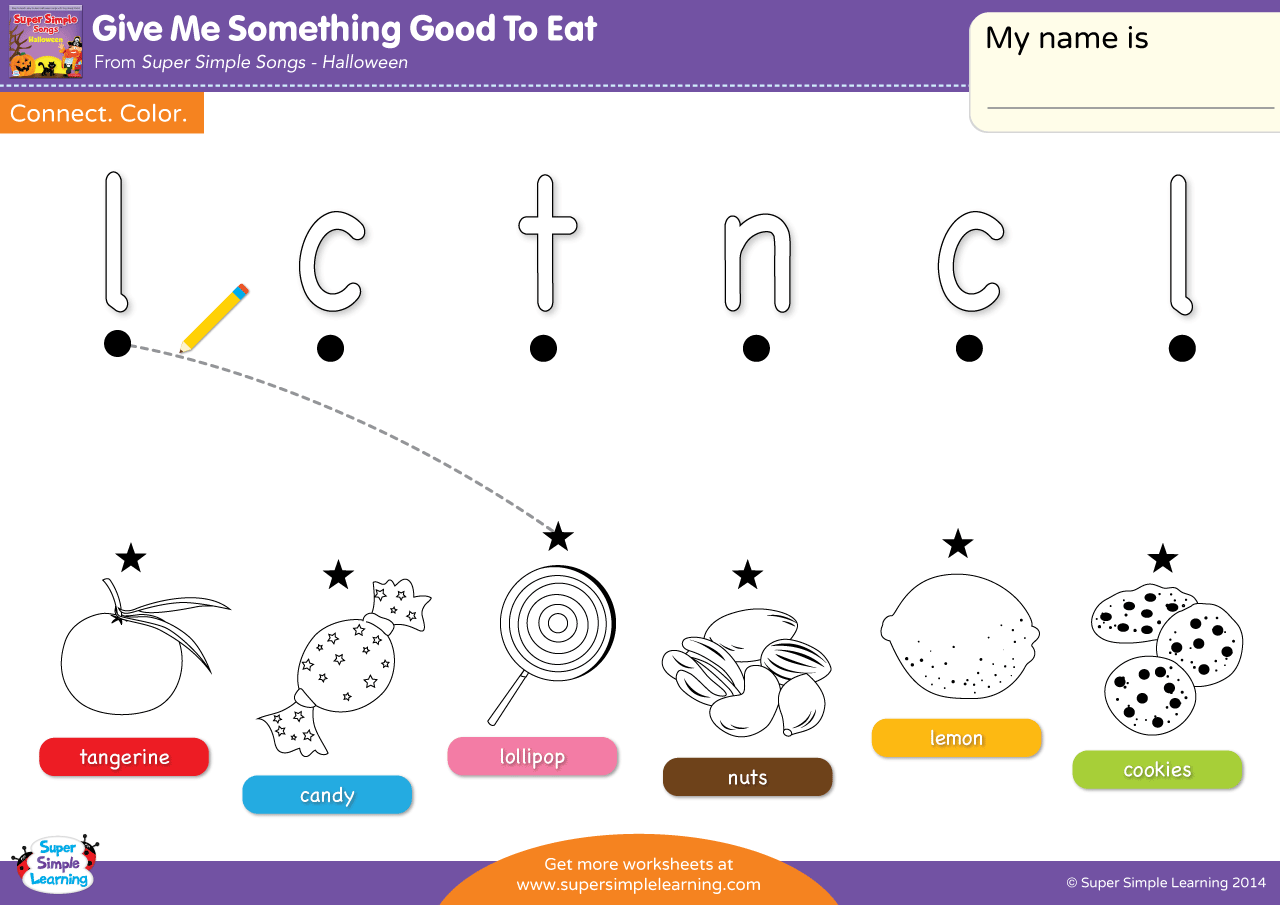 Give Me Something Good To Eat Worksheet Lowercase Letter Matching 2