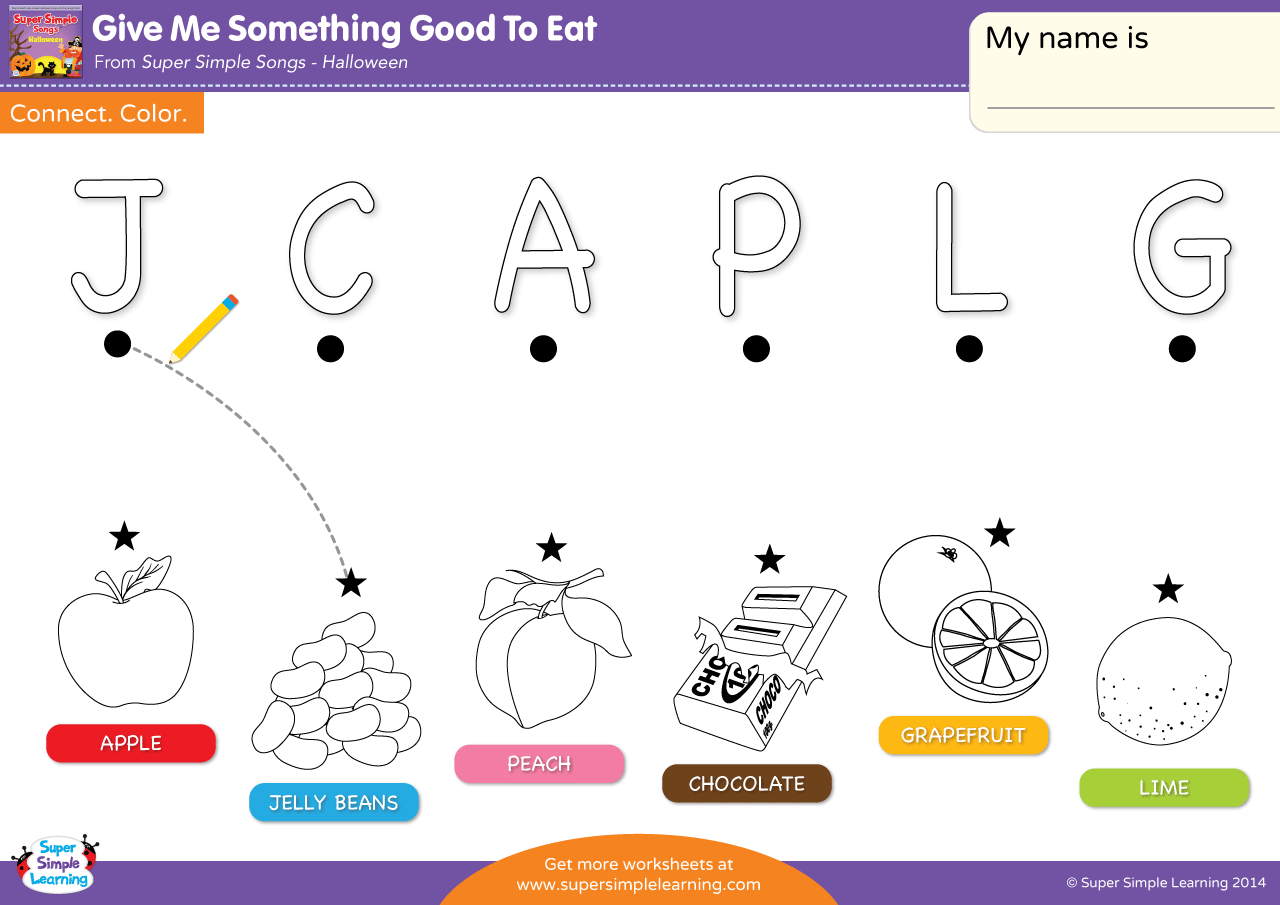 Give Me Something Good To Eat Worksheet Uppercase Letter Matching 1
