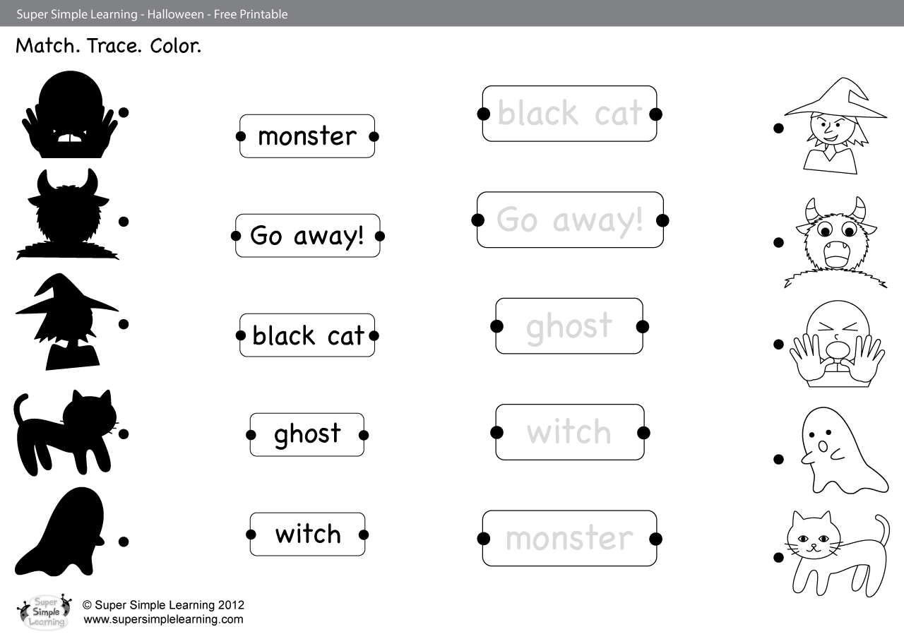 Go Away Worksheet Match Trace Amp Color